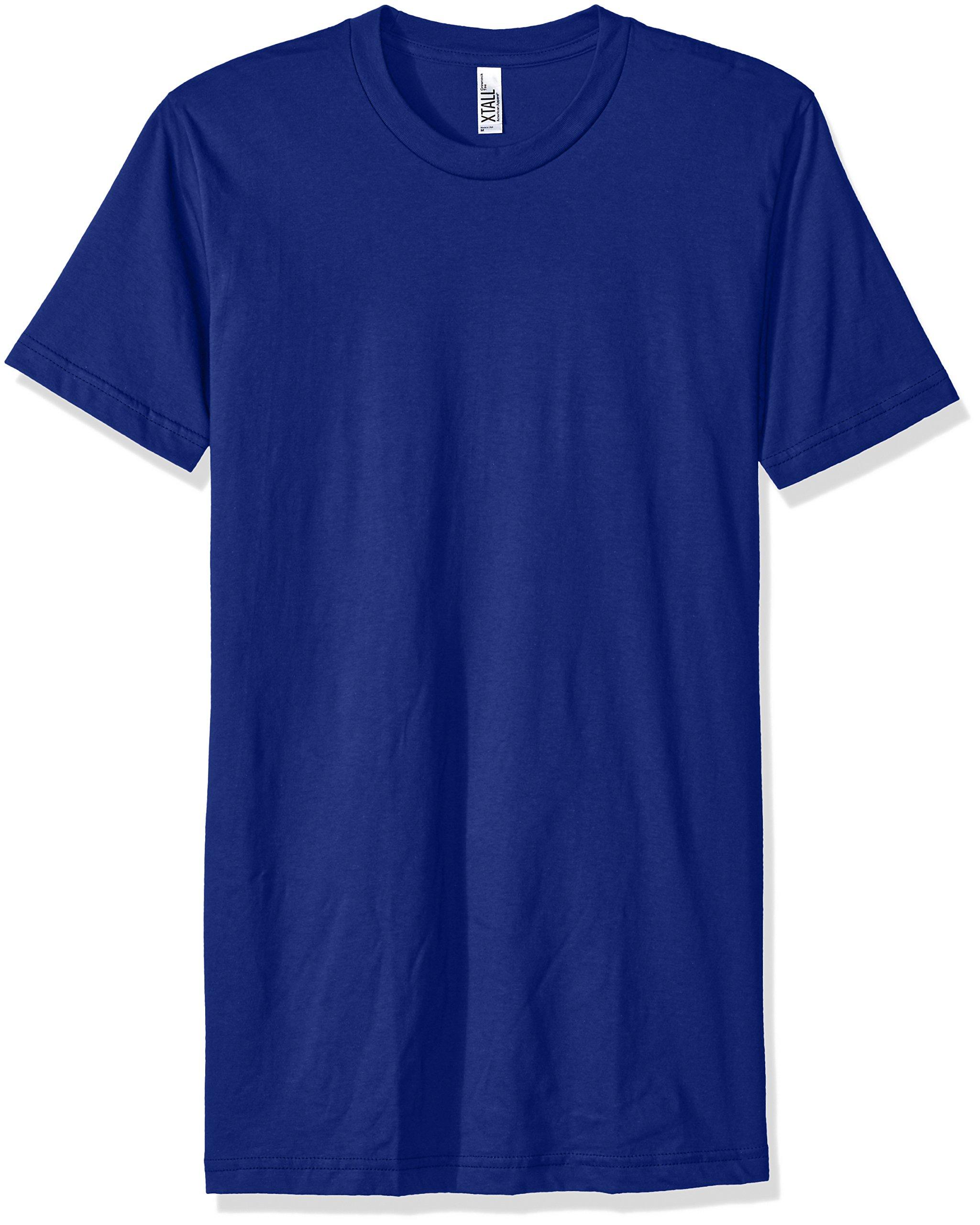 American Apparel Men's Fine Jersey Short Sleeve Tall Tee, Lapis, Medium
