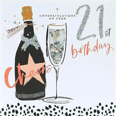 Amazon Com 21st Birthday Card Age 21 Birthday Card 21st Birthday Cards Birthday Cards For Her 21st Birthday Cards Female 21st Birthday Gifts 21st Birthday Gifts