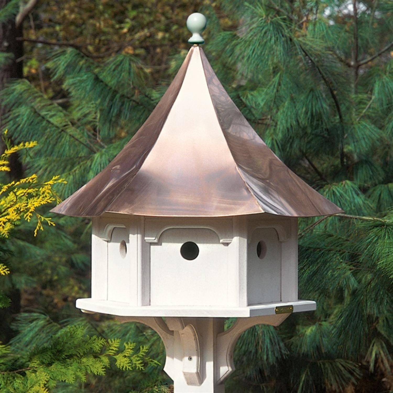 25'' Outdoor Enchanted Polished Copper Carousel Garden Birdhouse
