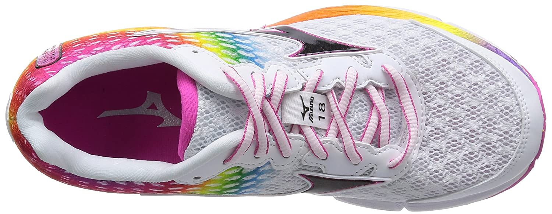 Jinete De La Onda Mizuno 18 Osaka Maratón Arco Iris Para Mujer Zapatos Para Correr rRFV4