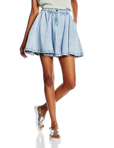 f18a2a6a2622 Vero Moda VMSIS NW Short Skirt, Shorts para Mujer, Azul (Light Blue ...