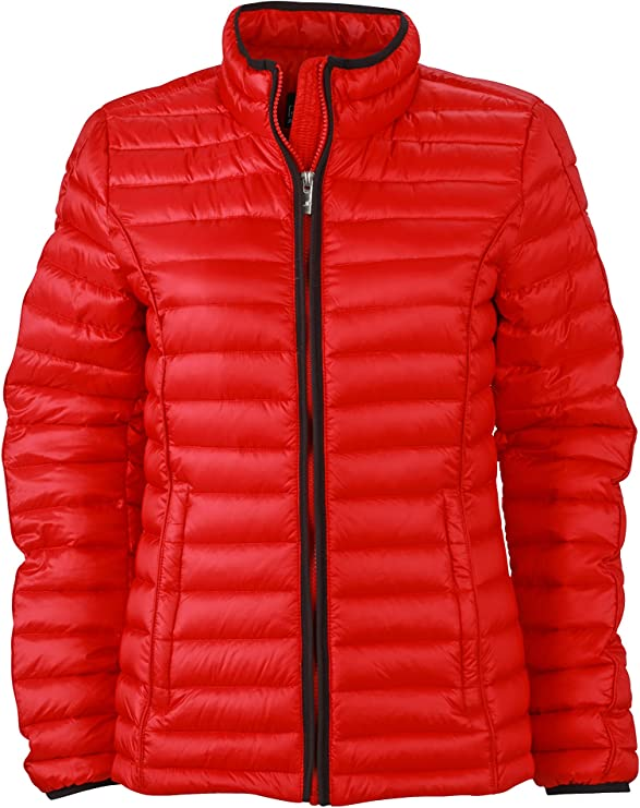 TALLA XL. James & Nicholson Daunenjacke Ladies Quilted Down Jacket Chaqueta, Mujer