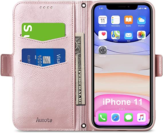Iphone 11 Wallet Case With Card Holder Slim Flip Folio Iphone 11 Case With Magnetic Closure