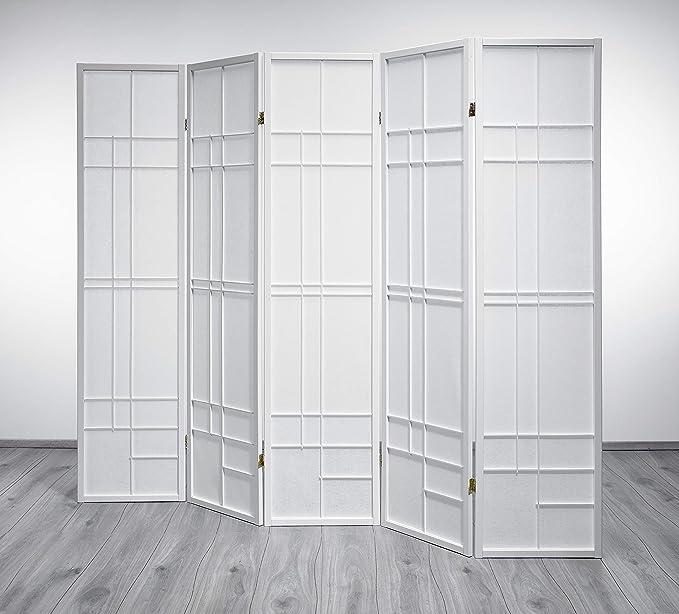 Trend Shoji Room Divider Screen White 5 Panels Amazon Co Uk Kitchen Home