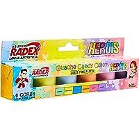 Tinta Guache 015ml 6 Cores Candy Color - Caixa com 6 cores, Radex, 7897, Multicolor