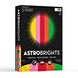 "Neenah Paper Astrobrights Cardstock, 8.5"" x 11"", 65 lb / 176 gsm, ""Vintage"" 5-Color Assortment, 250 Sheets, Multi-Colored (21003)"