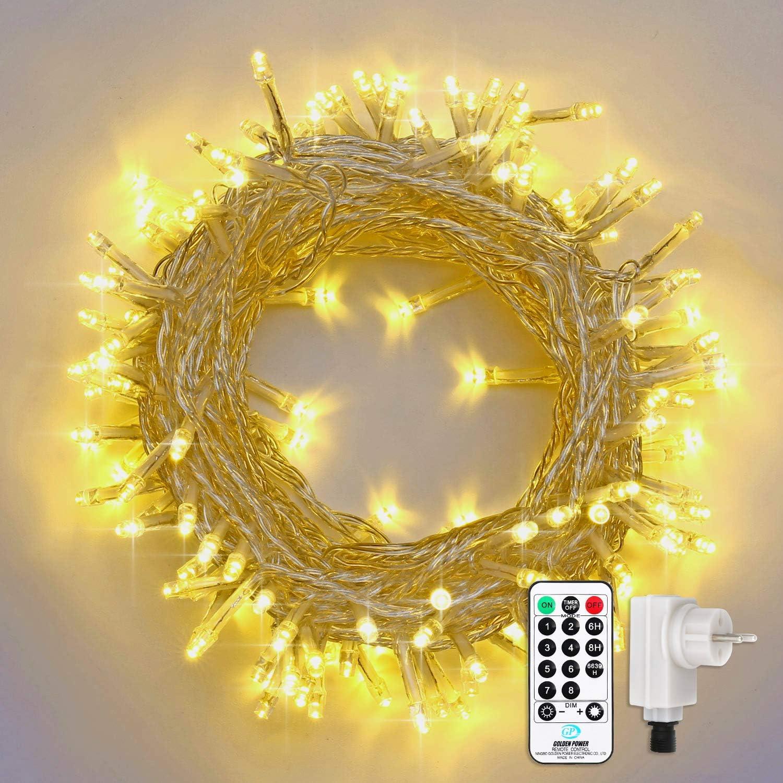 Cavo di alimentazione 2 vie luci di natale collane catene luminose IP44 per e...
