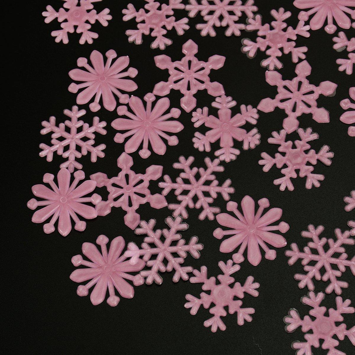 100 Stck 3D Schneeflocke Leuchtend Fluoreszierend DIY Wand Aufkleber