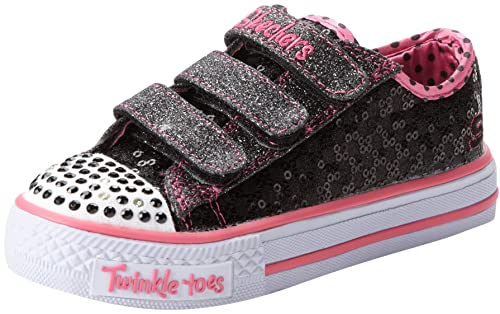 Skechers Shuffles Sweet Nothings - Zapatillas de lona niña, color negro, talla 27: Amazon.es: Zapatos y complementos