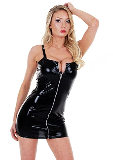 Sexy Women Plus Size Pvc Mini Dress Lingerie Faux Leather Clubwear G String Cocktail Party Dress Uk Seller Ref 113 Amazon Co Uk Clothing