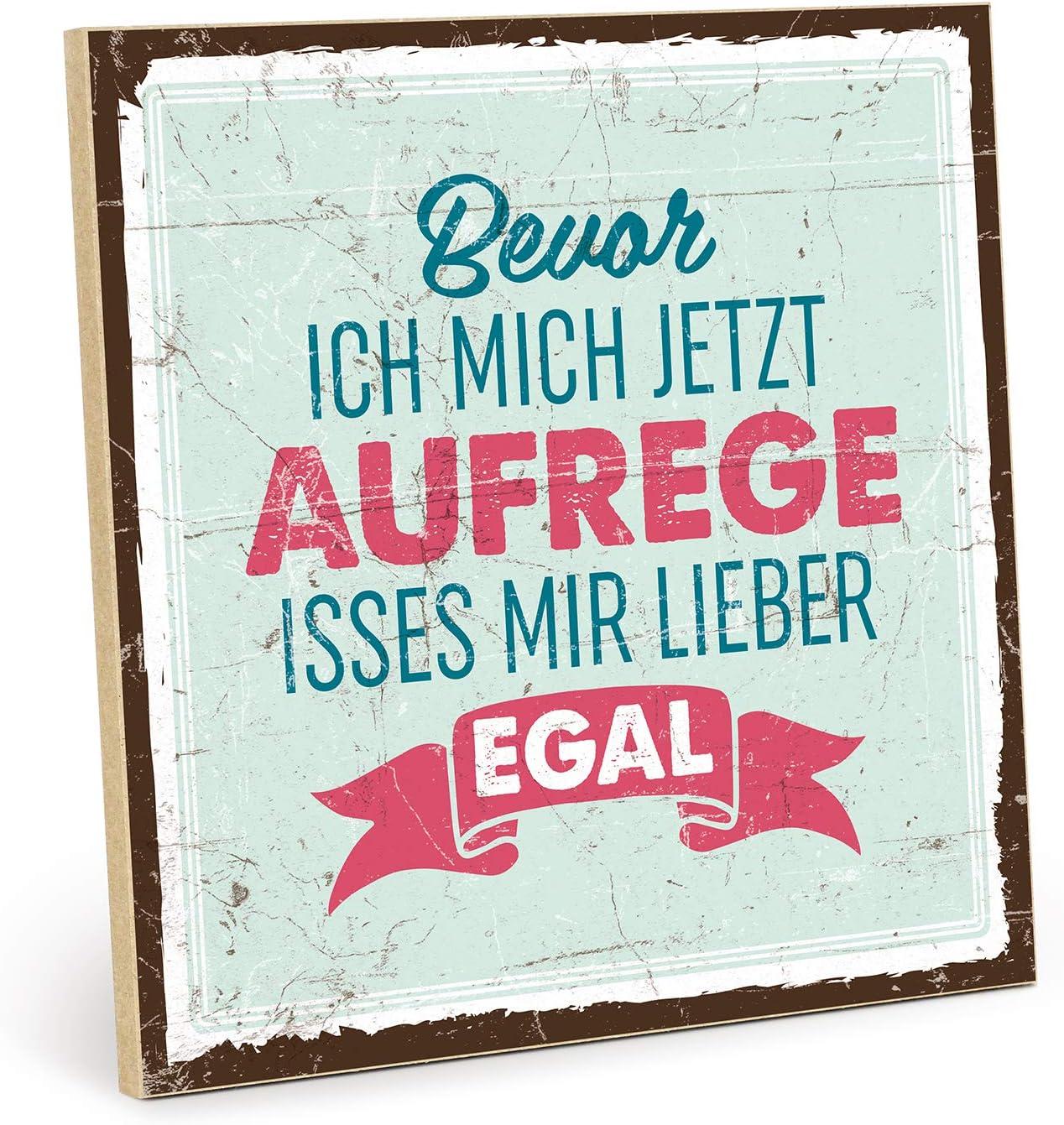 Type plástico Cartel de Madera, diseño con Texto–Tanto–Vintage de decoración con Cita como Regalo y para el Tema aufregung y enfado