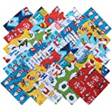 Robert Kaufman DR SEUSS FAVORITES RETURNS 预裁 16.51 厘米棉布绗缝方格饰小饰物包组合
