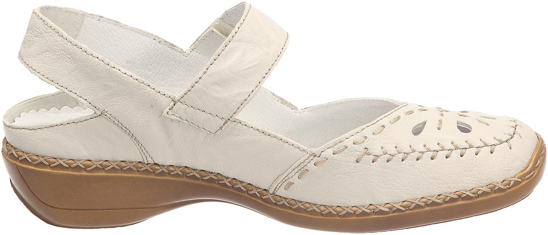 Rieker 41391 60, Chaussures de ville femme - Beige, 40 EU (6.5 UK) (8.5 US)