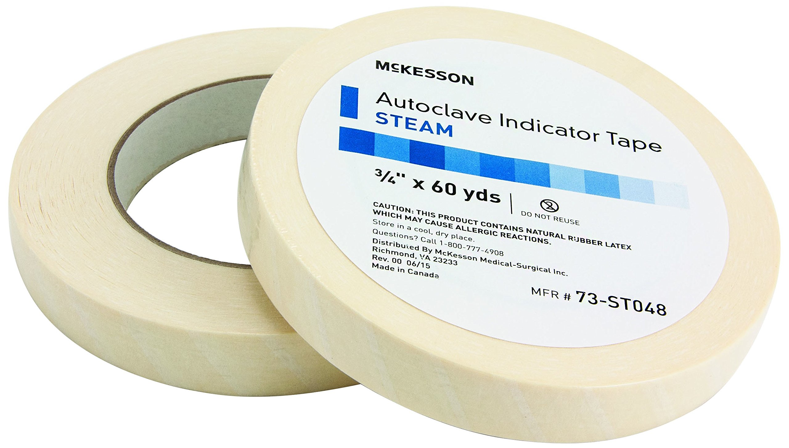 McKesson 73-ST048 Steam Tape, 3/4'' Width, 60 yd. Length, 0.75'' Width (Pack of 24)