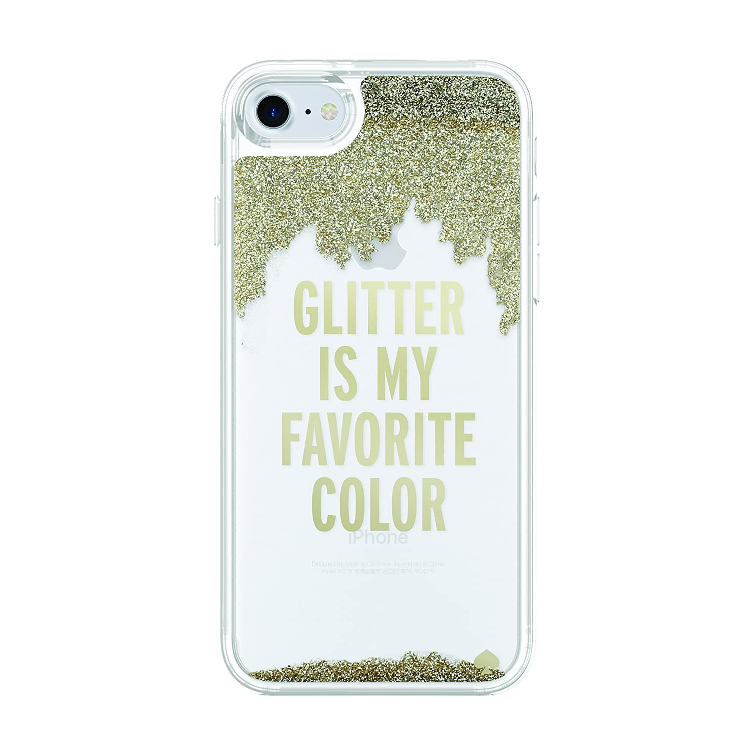size 40 ddc5a 4167d kate spade new york Liquid Glitter Case for iPhone 8 - also compatible with  iPhone 7 - Glitter is My Favorite Color Gold / Clear