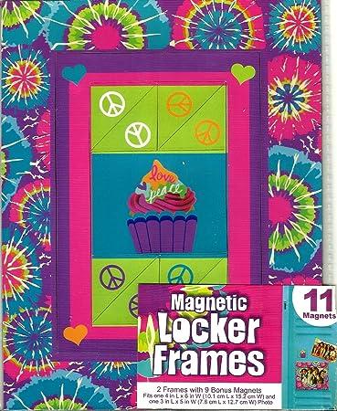 Amazoncom Magnetic Locker Frames 2 Frames With 9 Bonus Magnets