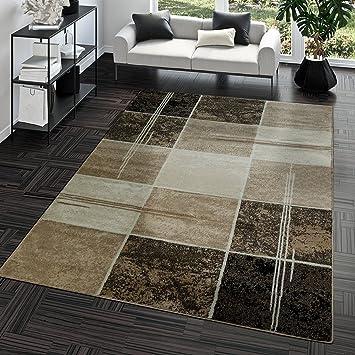 Wunderbar Teppich Günstig Karo Design Modern Wohnzimmerteppich Braun Beige Creme Top  Preis, Größe:60x100 Cm