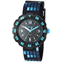 Kids' Futuristic Quartz Polyester Strap, Black, 16 Casual Watch (Model: ZFPSP036)