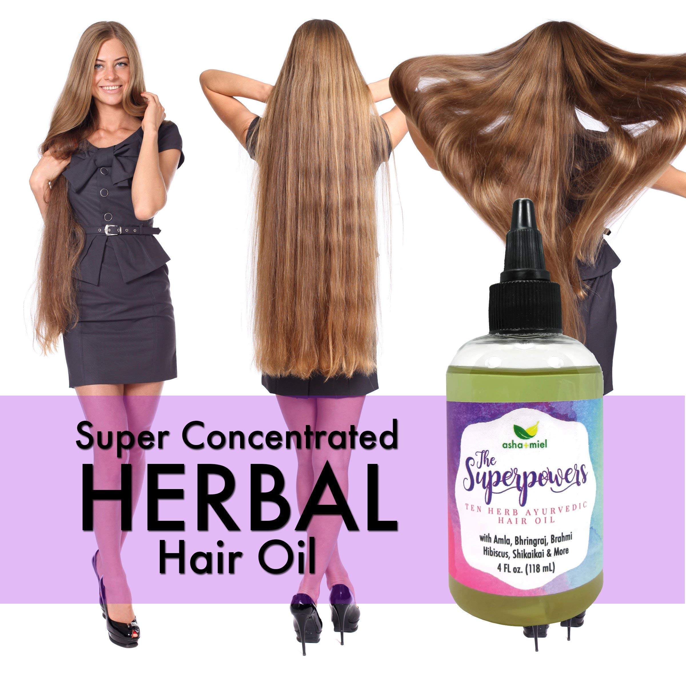 The Superpowers Hair Growth Serum, Fast Hair Growth Oil, Ayurvedic 10 Herb Coconut hair oil