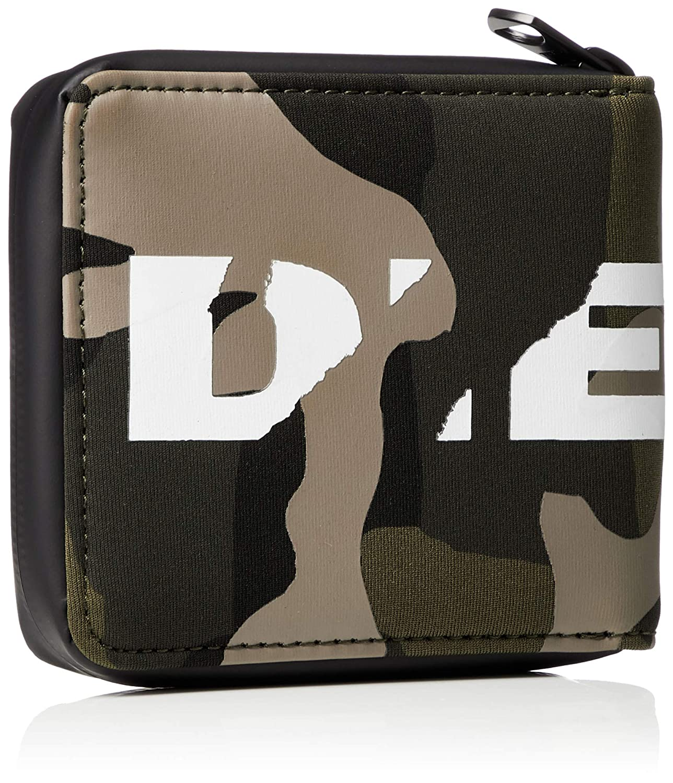 Diesel Cartera de Hombre, SUBTORYAL Camou Zippy HIRESH S, (11x10x2cm) - Army: Amazon.es: Zapatos y complementos