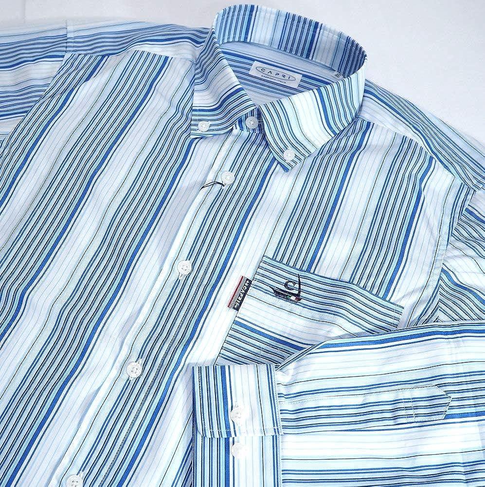 50198 CAPRI カプリ 日本製 ボタンダウンシャツ 長袖 ブルー 50(LL) 大きいサイズ 日本製 メンズ カジュアル 男性 春夏 ゴルフ 通販   B07NZ3SKYK