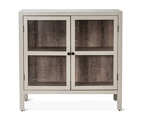 Amazon.com: Vista 2-Door Accent Cabinet Grey - Threshold: Kitchen ...