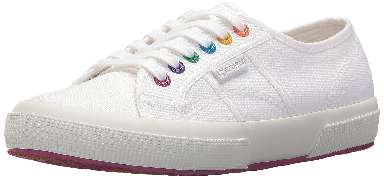 Superga Women's 2750 Multi Color Eyelets Sneaker B077H4TDFJ 39 M EU (8 US)|White/Fuchsia