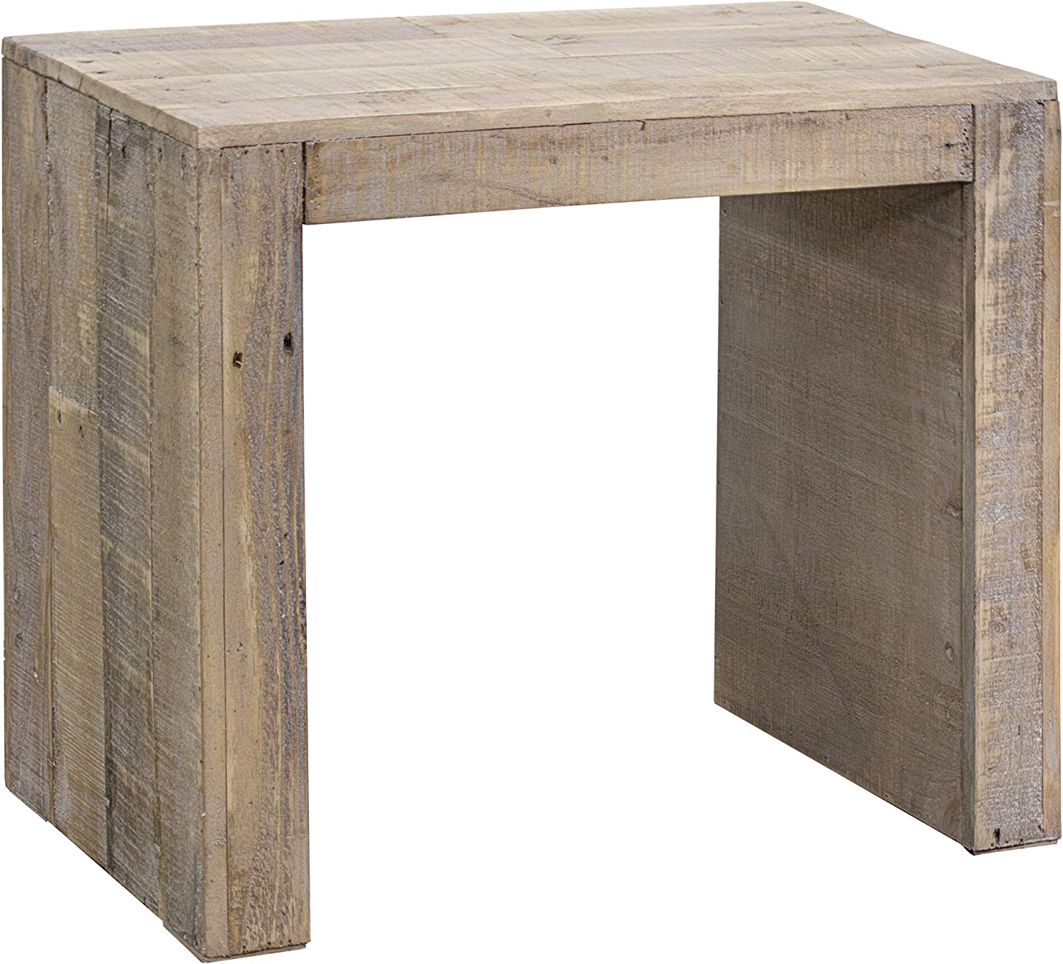Amazon Com American Art Decor Small Reclaimed Wood Accent End Side Table For Living Room Bedroom Dining Room Brown 20 X 23 Kitchen Dining
