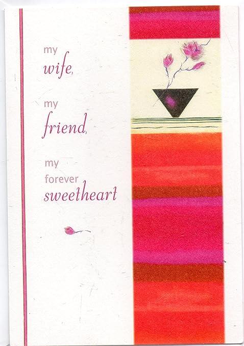Amazon.com: Día de San Valentín tarjeta y sobre: Mi Esposa ...