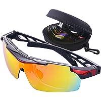 Gafas de Ciclismo Unisex Gafas de Sol de Deportivas Bici Polarizadas 5 Lentes…