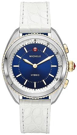 bd9bb8ca85ee Amazon.com  MICHELE Women s Hybrid Smartwatch- Two-Tone Navy Dial ...