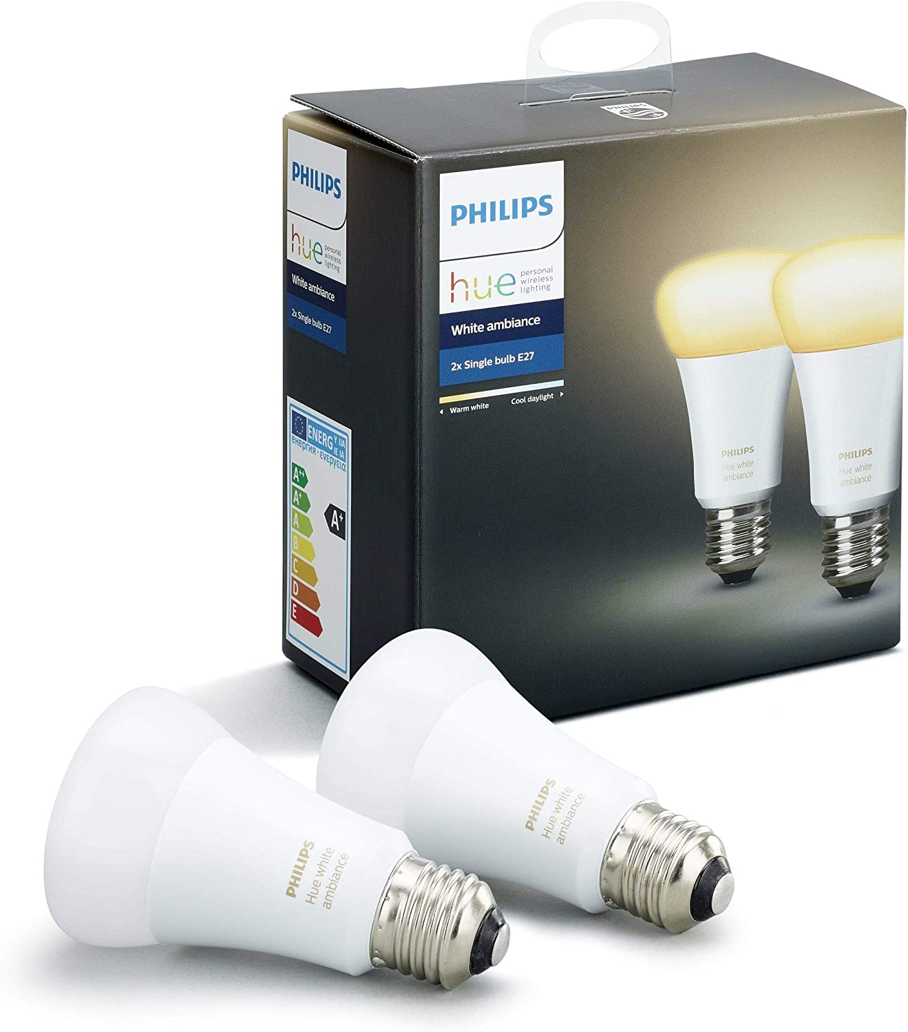 Philips Hue White and Color Ambiance Doppelpack E27 LED Lampe 8718699673284