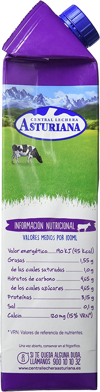 Central Lechera Asturiana Leche Semidesnatada sin Lactosa ...