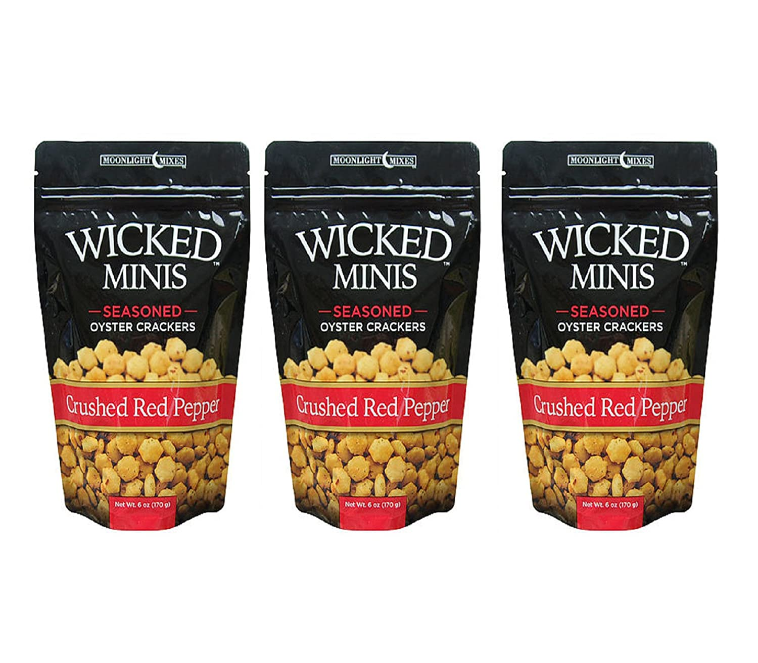 Wicked Mix Premium Seaoned Flavor Garden Dill Soup and Oyster Crackers,2-Pack Of 6 Ounce Bag (Garden Dill, 2-Pack) Moonlight Mixes
