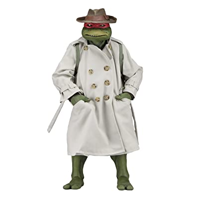 NECA TMNT (1990 Movie) Raphael Disguise 1/4 Scale Action Figure: Toys & Games