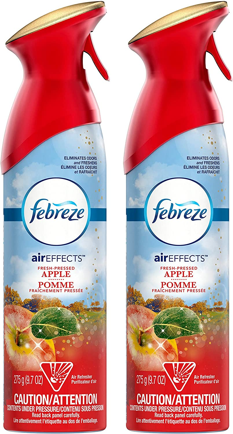 Febreze Air Effects - Fresh-Pressed Apple - Holiday Collection 2016 - Net Wt. 9.7 OZ (275 g) Per Can - Pack of 2