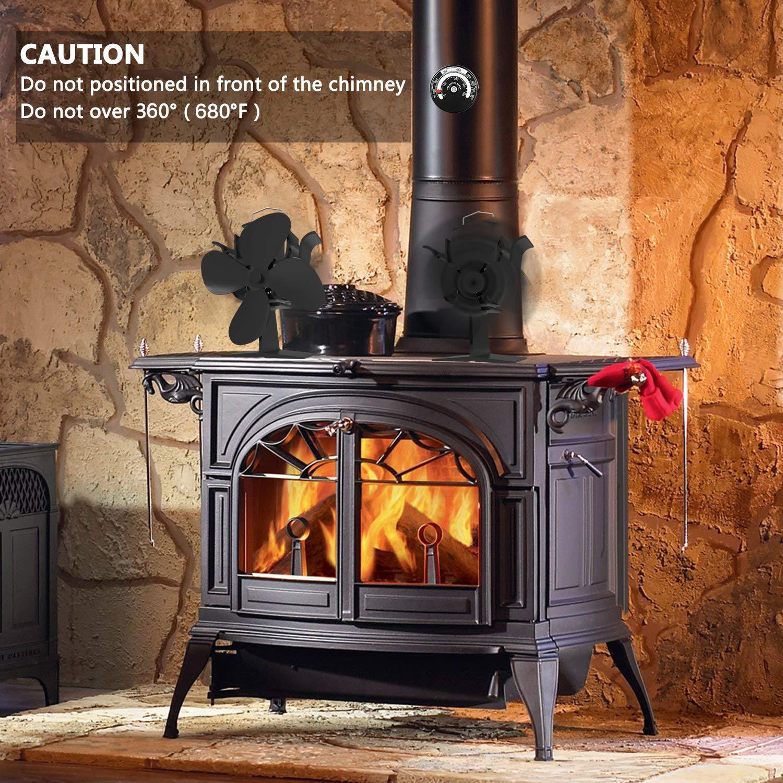 Fireplace Fans Heat Powered Stove Fan for Log Wood Burner ...