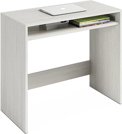 Habitdesign 008310Y - Escritorio, Mesa de Ordenador Acabado en Color Blanco Alpes, Medidas: 79x79x43 cm de Fondo: Amazon.es: Hogar
