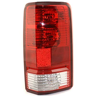 Tail Light Lens and Housing Compatible with 2007-2011 Dodge Nitro Passenger Side: Automotive