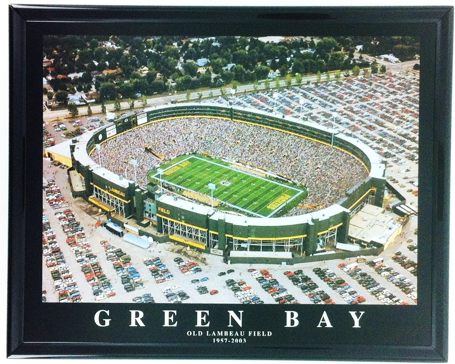 Amazon Com Old Lambeau Field Football Green Bay Packers Framed Print Wall Art F7546a Posters Prints