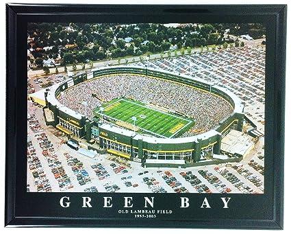 Amazon.com: Old Lambeau Field Football Green Bay Packers Framed ...