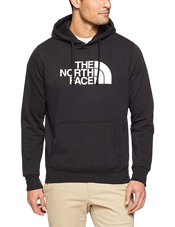The North Face Men's Half Dome Pullover Hoodie - TNF Black & TNF White - L best men's sweatshirt
