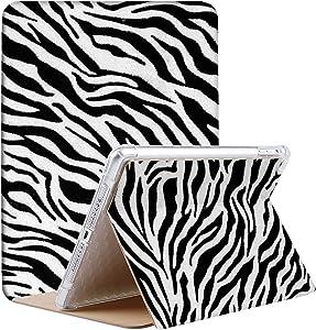 DuraSafe Cases for iPad Mini 5 Mini 4 Mini 3 Mini 2 Mini 1-7.9 MGNV2LL/A ME276LL/A MK6K2LL/A MUQY2LL/A MUQW2LL/A Slim Book Cover with Air Cushion Corner for Extra Shock Protection - Zebra