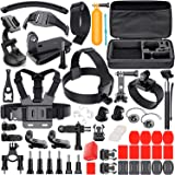 LEKNES Camera Accessory Kit for GoPro Hero 5/Hero 5 Session/4/3+/3/2/1 SJ4000 SJ5000 SJ6000 DBPOWER AKASO Xiaomi Yi APEMAN WiMiUS Lightdow Campark