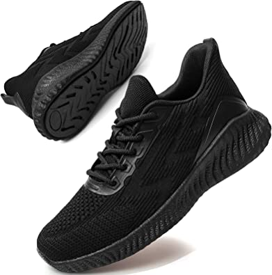 Womens Mesh Slip On Trainers Sports Running Sneakers Comfy Breathable Shoes Size