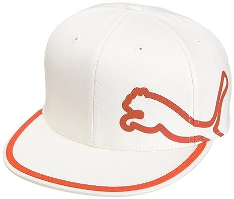 3c888ef6c8d ... low cost puma golf mens 210 fitted monoline cap white vibrant orange  large x eeb28 84a12