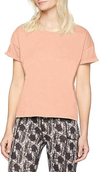 adidas Essentials All Caps Loose Camiseta Cuello Redondo Manga Corta Algodón - Camisas y Camisetas (Camiseta, Adulto, Femenino, Rosa, Monótono: Amazon.es: Ropa y accesorios