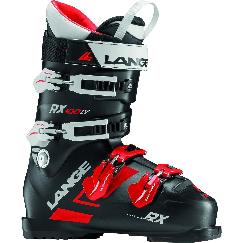 Lange RX 100 - Botas de esquí de hombre, color Negro/Rojo, talla 28.5
