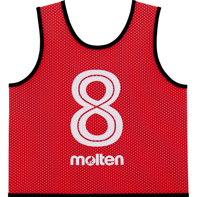 molten(モルテン) ゲームベストGVジュニア (2番~11番)10枚セット GS0112-R 赤 B0797KPV8Z