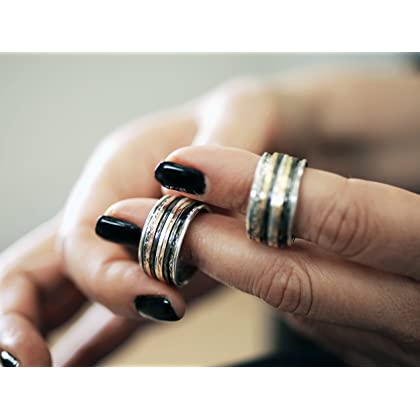 208929295afe8 Paz Creations .925 Sterling Silver and Yellow Gold Over Silver and ...